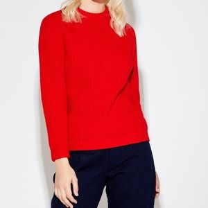 The perfect red crew neck sweater